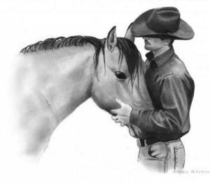 Dibujos a lapiz de caballos (8)