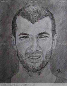 Dibujos a lápiz de jugadores de futbol (6)