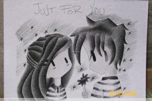 dibujos a lapiz de amor (2)