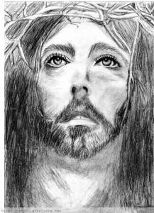 dibujos a lapiz de cristo (4)