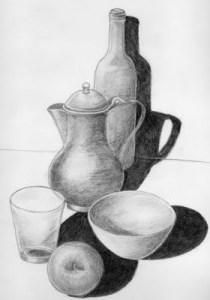Dibujos a lápiz de bodegones (15)