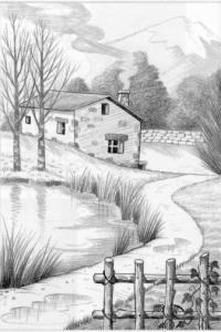Dibujos a lápiz de paisajes (1)