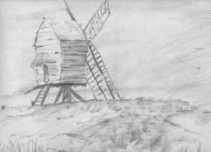 Dibujos a lápiz de paisajes (4)