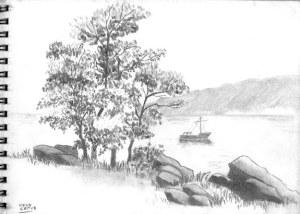 Dibujos a lápiz de paisajes (8)
