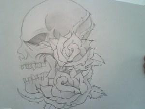 Dibujos a lápiz con calaveras (2)