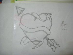 Dibujos a lápiz con corazones (1)