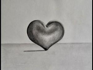 Dibujos a lápiz con corazones (6)