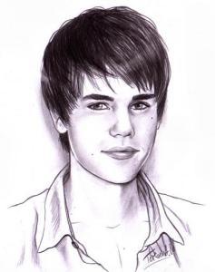 Dibujos a lápiz de Justin Bieber (3)