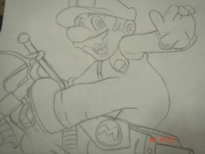 Dibujos a lápiz de Mario Bros (1)