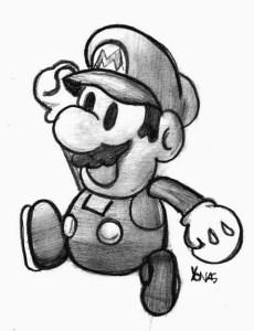 Dibujos a lápiz de Mario Bros (10)