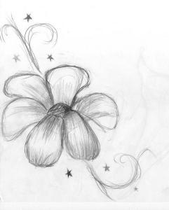 Dibujos a lápiz de flores (9)