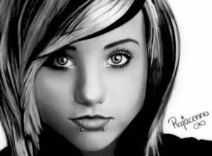 Dibujos a lápiz de hermosas mujeres (11)