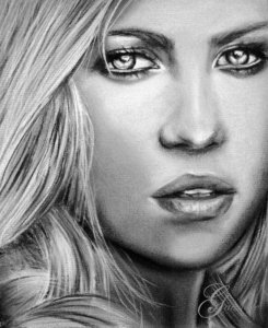 Dibujos a lápiz de hermosas mujeres (4)