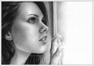 Dibujos a lápiz de hermosas mujeres (7)