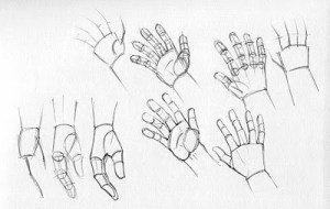 15 imágenes de dibujos a lápiz de manos y pies (12)