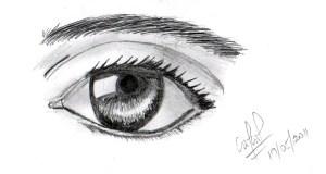 15 opciones de dibujos a lápiz de ojos (1)