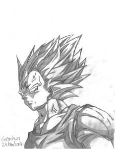 Dibujos a lápiz de dragon ball z (5)