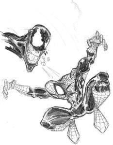 10 Dibujos a lapiz de Spiderman (2)