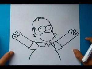 10 dibujos a lápiz de los simpson (4)