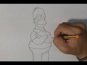 10 dibujos a lápiz de los simpson (7)