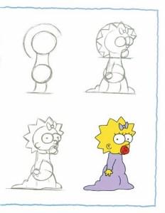 10 dibujos a lápiz de los simpson (9)