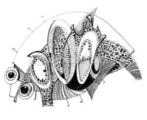 10 nuevos dibujos a lápiz abstractos (5)