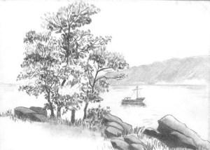 10 Dibujos a lápiz de paisajes (7)