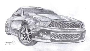 11 Dibujos a lapiz de autos (3)