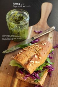 sage and walnut pesto