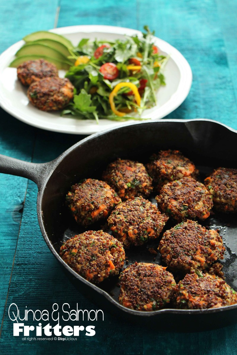 QUINOA AND SALMON FRITTERS