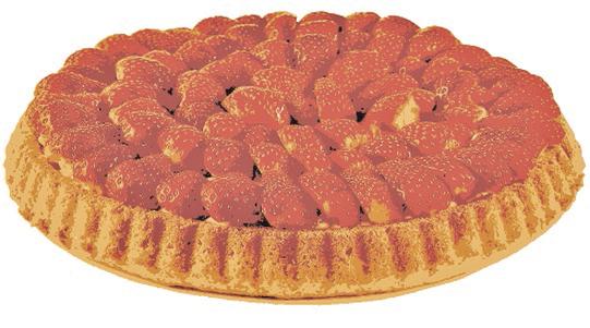 Erdbeer Torte mit Vanille Creme