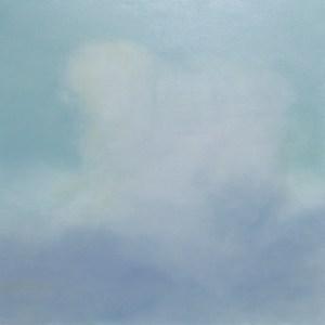 alle Bilder aus der Serie »Nuances des Nuages«, Öl auf Leinwand, 160x160 cm, 2011 Fotos Claudia Nickl »le cœur bleu« (»das blaue Herz«)