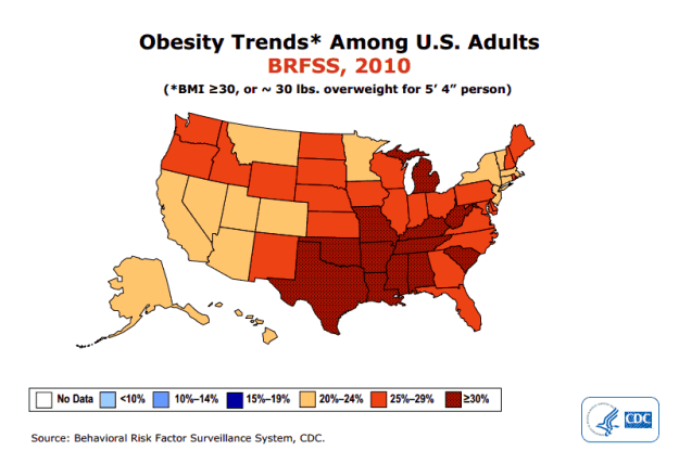 Obesity Trends Map 2010