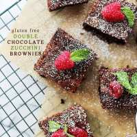 Gluten Free Double Chocolate Zucchini Brownies