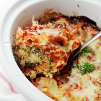Spinach and Feta Crock Pot Lasagna