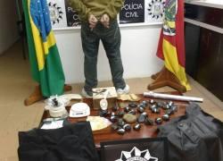 Homem é preso com 1,2kg de maconha no Borgo em Bento