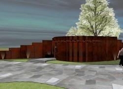 Inicia retirada de árvores para projeto de banheiro público na Praça do São Bento