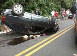 Acidente deixa quatro feridos na BR-470 na Serra das Antas em Bento