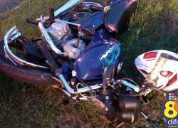 Acidente fere motociclista na BR 470 em Bento