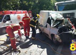Homem fica gravemente ferido em acidente na ERS 446 em Carlos Barbosa