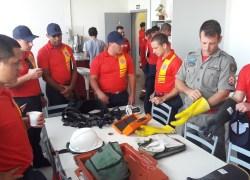 Alunos-bombeiros da Serra têm treinamento na RGE em Caxias do Sul