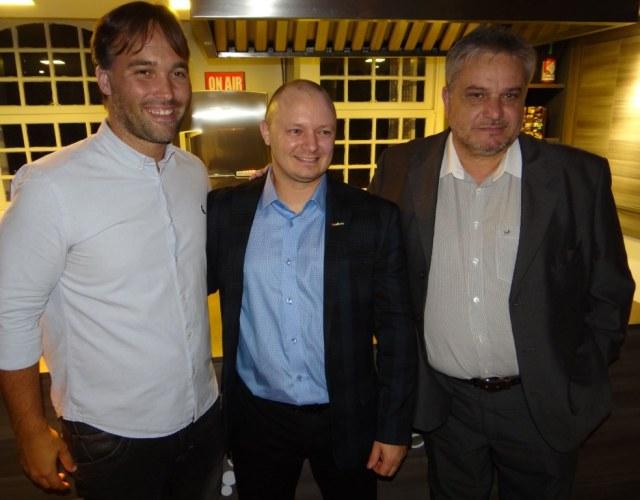 Diego Fabris, diretor dos Destemperados, Roger Bellé, Diretor Geral da Expobento 2017 e Silvio Bertolini Pasin, secretário de desenvolvimento econômico de BG