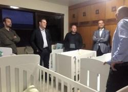 Comitiva visita o novo espaço do Abrigo Municipal em Bento