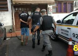 Dois homens são presos suspeitos de assaltos em Bento