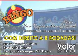 Bingo da Festa de São Roque e São Gotardo ocorre nesta sexta em Bento