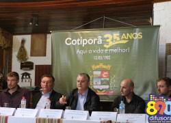 Cotiporã lança programação especial com inaugurações nos 35 anos de emancipação