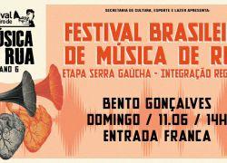 Bento Gonçalves abre a etapa regional do Festival Brasileiro de Música de Rua