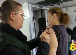 Dia D vacinação contra a gripe movimenta Bento