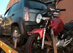 Motociclista fica levemente ferido em acidente no Licorsul em Bento