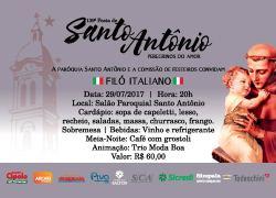 Filó Italiano da 139ª Festa de Santo Antônio ocorre dia 29